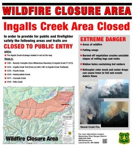 ingalls creek trail closure poster